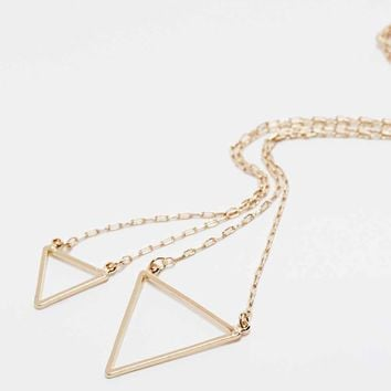 Geo 2-Row Necklace in Gold - Urban Outfitters