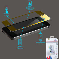 MYBAT Screen Protector for Apple iPhone 5C - Tempered Glass (Gold)