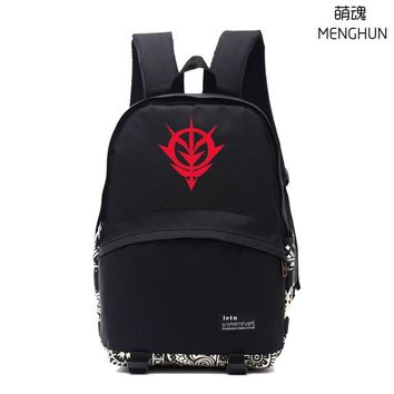 Japanese Anime Bag Cool school backpack  game fans Gundam backpack Mobile suits Gundam EFSF ZICK ZION! concept daily use nylon backpacks NB175 AT_59_4