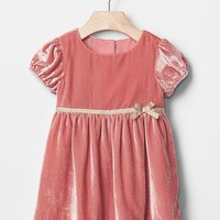 Gap Velvet Bow Trim Dress