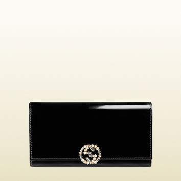 Gucci - GG sparkling polished leather continental wallet 369670DKE5G8471