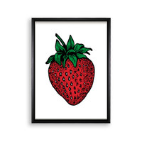 Printable Poster Wall Hanging - Strawberry - 18x24 / 11x17 / 8.4x11 / 8x10 / 5x7 / 4x6