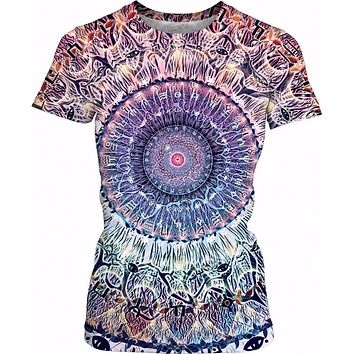 Waiting Bliss - Womens Mandala T-Shirt