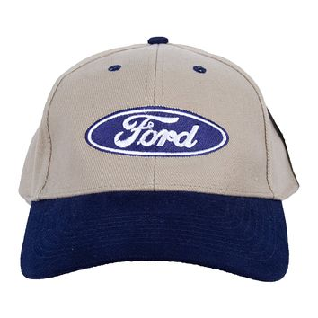 Ford Logo Hat Two Tone Embroidered Cap