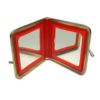 Vintage Snap-A-Frame Mirror Duo Plain And Magnifying