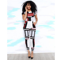 Sexy Club Patchwork Jumpsuit