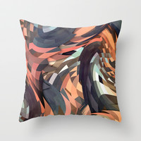 Menomena Throw Pillow by Danny Ivan