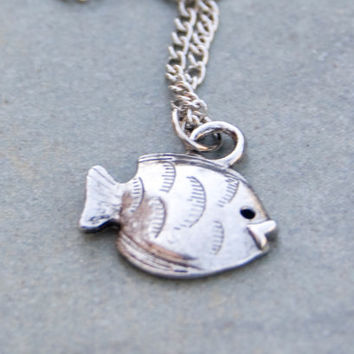 Fish Necklace Silver Nautical