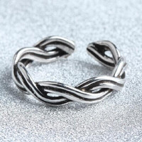 vintage retro style unique 925 silver Stars ring men women cool adjustable ring gift 91