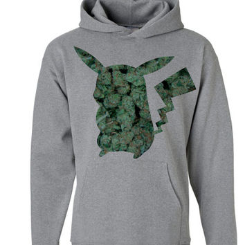 WEED Charizard Hoodie | Pokemon Hoodie | Marijuana Hoodie | Video Game Sweatshirts | Tumblr Marijuana pikachu sweater