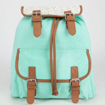 Daisy Crochet Backpack Mint One Size For Women 24048252301