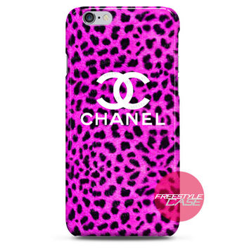 Pink Leopard Chanel iPhone Case 3, 4, 5, 6 Cover