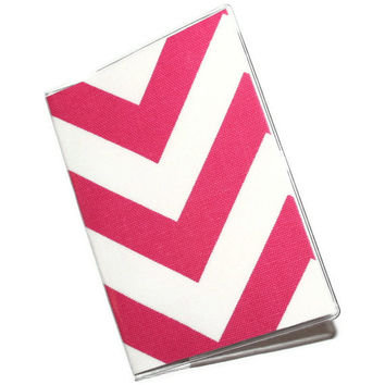 Passport Cover / Holder / Case - Hot Pink Chevron Zig Zag
