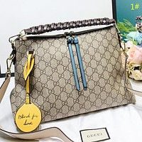 GUCCI New fashion more letter leather shoulder bag crossbody bag women handbag 1#