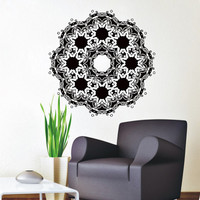Wall Decals Mandala Indian Pattern Yoga Oum Om Sign Decal Vinyl Sticker Home Decor Art Murals Bedroom Studio Window MN490