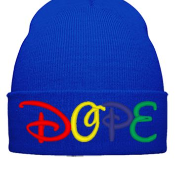 DOPE TISA_ Bucket Hat,embroidery,hat - Beanie Cuffed Knit Cap