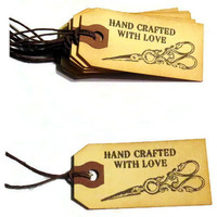 8 Handmade Gift Tags - Hand Crafted With Love - Stained Tags