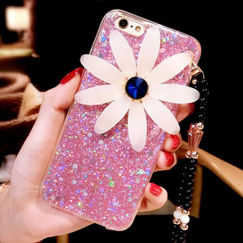 Best Protection Rhinestone Floral iPhone 7 7 Plus & iPhone 6 6s Plus Case Cover + Gift Box