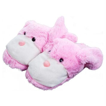 Kids Cuddlee Slippers - Bunny - (Ages 6 - 12)