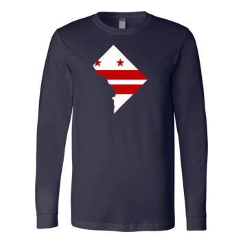 District of Columbia Flag Long Sleeve Tee