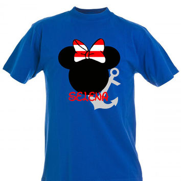 Sailor Minnie Mouse Personalized T-shirt with Name - Birthday shirt, Party shirt, Disney trip