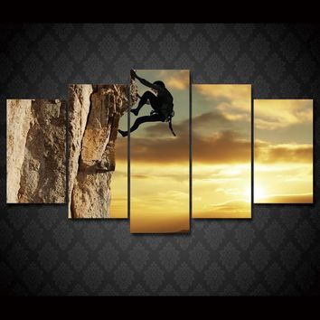 Rock Climbing Extreme 5-Piece Wall Art Canvas