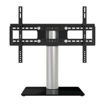 ONETOW Table Top Tv Stand Silver