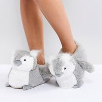 New Look Owl Slipper at asos.com