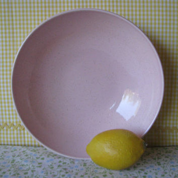 Vintage Tickled Pink Serving Bowl Speckled Vegetable Bowl 1960's