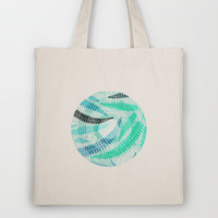 Blue fern  Tote Bag by Claudia Owen