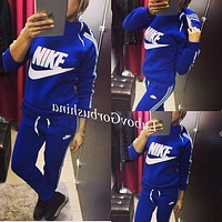 Nike Fashion Sport Gym Set Two-Piece Pants Coat Sportswear Hoodie