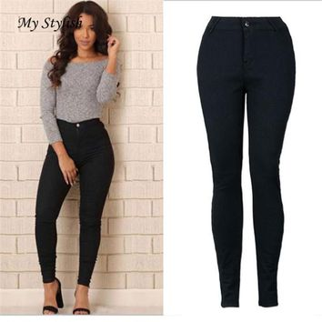 Cheap Price ! Hot New Women Pencil Stretch Casual Denim Skinny Jeans Pants High Waist Trousers High Quality Dec 14