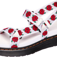 SN211 Fashion Rose Pattern Velcro Women Sandals White