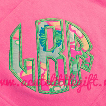 Monogrammed Sweatshirt Blanket using Lilly Pulitzer Fabric