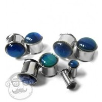 "Stainless Steel Mood Plugs (4 Gauge - 5/8"") 