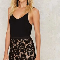 Raise Hell Embroidered Mesh Skirt