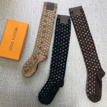 Louis Vuitton LV Monogram Cotton Socks