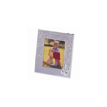 Silver-plated Birth Record Photo Frame - Engravable Personalized Gift Item