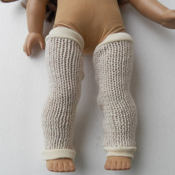 "American Girl 18"" Doll Clothes Ivory Cable Knit Leg Warmers Fall Autumn Winter"