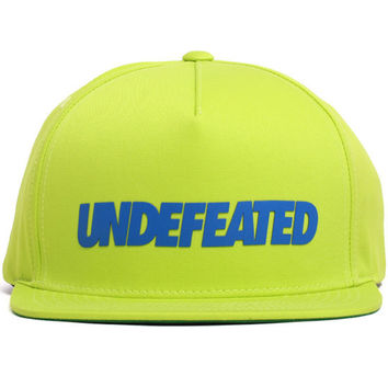 Undefeated Snapback In Neon Green