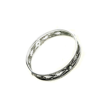 Ca D'zan Sunset Sterling Silver Open Work Bangle