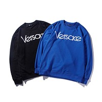 Versace Tide brand embroidery versatile round neck pullover sweater F-CP-ZDL-YXC