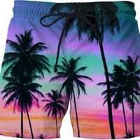 Colorful Sky- Swim Shorts