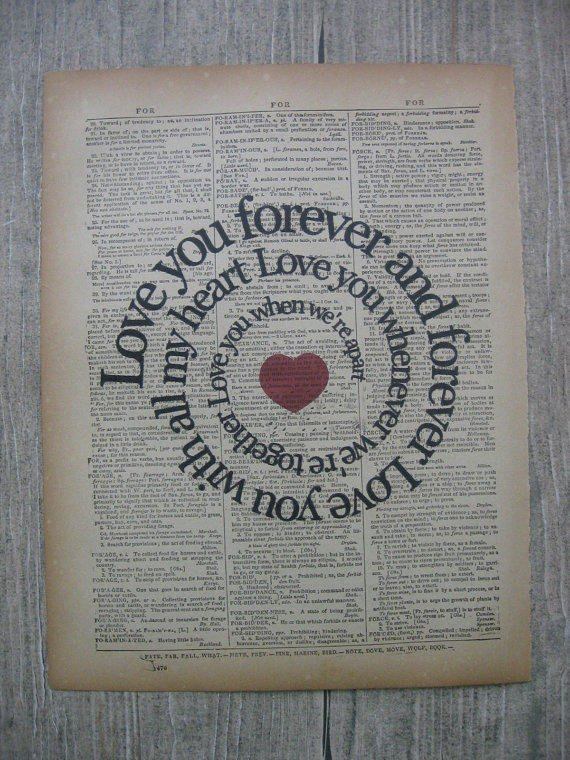 I Will Song Print - Love You Forever And from ...