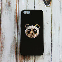 Panda Phone Case Cases Accessory Gift Ideas for Birthday Galaxy S3 S4 S5 Note 2 & 3 iPhone 5c Panda Black Cases for iPhone 4 4s Simple