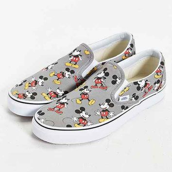 vans classic slip on mickey mouse