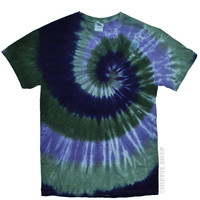 Sage Hollow Spiral Tie Dye T Shirt