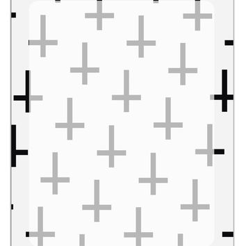 Inverted Crosses Aluminum Dry Erase Board All Over Print