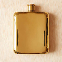 Gold Plated Flask | Urban Outfitters