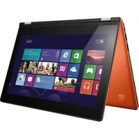 "Lenovo - Yoga Ultrabook 2-in-1 11.6"" Touch-Screen Laptop - 4GB Memory - 128GB Solid State Drive - Clementine Orange"